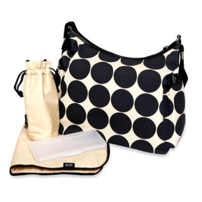 OiOi® Sand Dot Hobo Diaper Bag
