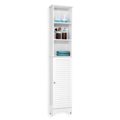 Louvre Bath Tall Cabinet in White