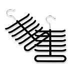 Real Simple®  Slimline Tie Hangers in Black (Set of 2)