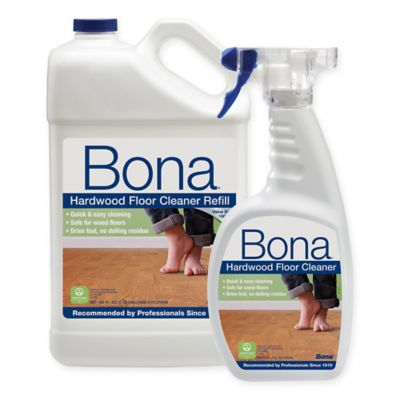 Bona® 160-Ounce Hardwood Floor Cleaner with 22-Ounce Spray Bottle