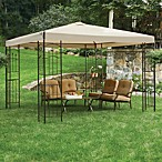 Gazebo with Corner Shelves