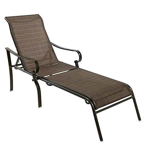 Oversized 5 position adjustable bronze chaise bed bath for Bronze chaise lounge