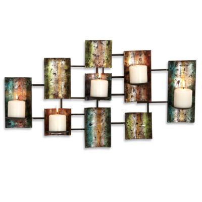 Wall Sconce Pillar Candle : Metal Multi-Color Pillar Candle Wall Sconce - Bed Bath & Beyond