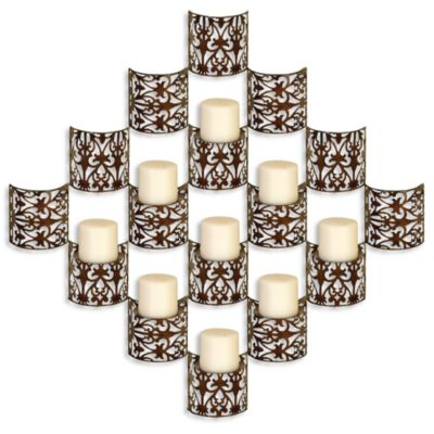 Metal 9-Pillar Candle Wall Sconce - Bed Bath & Beyond