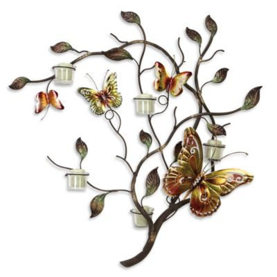 bed bath beyond butterfly branch wall sconce customer