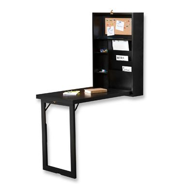 Fold-Out Convertible Desk in Black