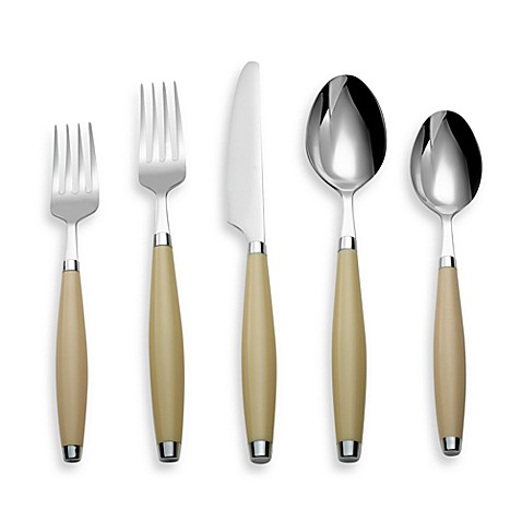 Fiesta® by Cambridge® 5-Piece Flatware Place Setting in Ivory