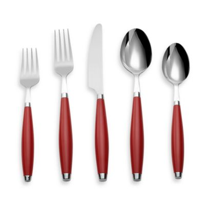 Cambridge® Silversmiths Fiesta Flatware 5-Piece Place Setting in Scarlet