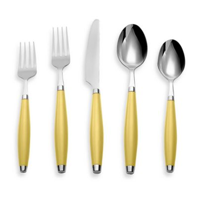 Fiesta® by Cambridge® 5-Piece Flatware Place Setting in Sunflower