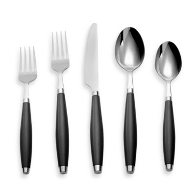 Fiesta® by Cambridge® 5-Piece Flatware Place Setting in Black