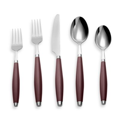 Cambridge® Silversmiths Fiesta Flatware 5-Piece Place Setting in Cinnabar
