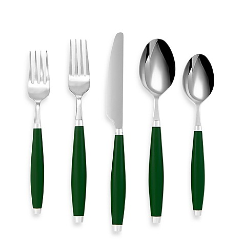 Fiesta® by Cambridge® 5-Piece Flatware Place Setting in Evergreen