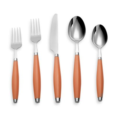 Cambridge® Silversmiths Fiesta Flatware 5-Piece Place Setting in Tangerine