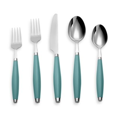 Cambridge® Silversmiths Fiesta Flatware 5-Piece Place Setting in Turquoise
