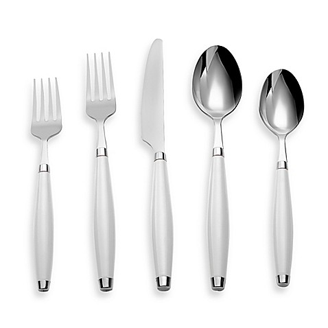 Fiesta® by Cambridge® 5-Piece Flatware Place Setting in White