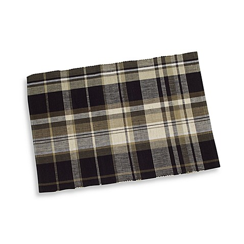 Oakville oversized placemat black bed bath beyond for Oversized placemats