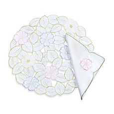 Spring Flower Cutwork Placemat and Napkin