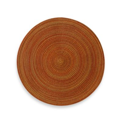 Martini Round Placemat in Rust
