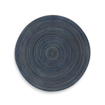 Martini Round Placemat in Navy