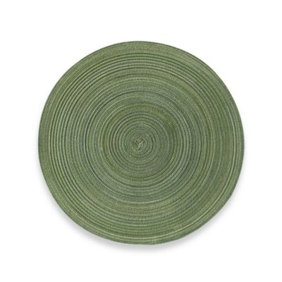 Martini Round Placemat in Green