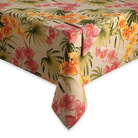Tommy Bahama® Home African Orchid Tablecloth and Napkin