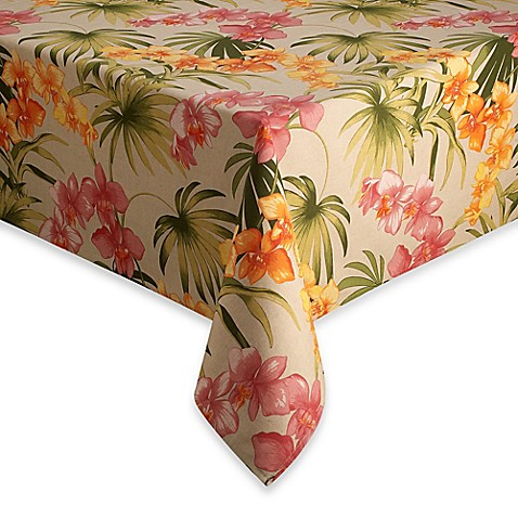 "Tommy Bahama® Home African Orchid 52"" x 52"" Tablecloth"