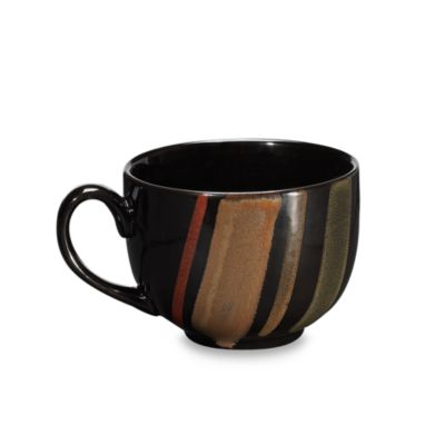 Sango Avanti Black 18-Ounce Jumbo Mugs (Set of 4)