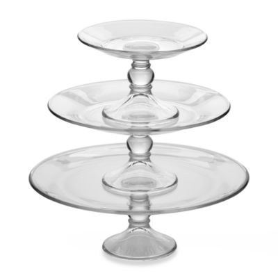 Libbey® Selene Footed Platters (Set of 3)
