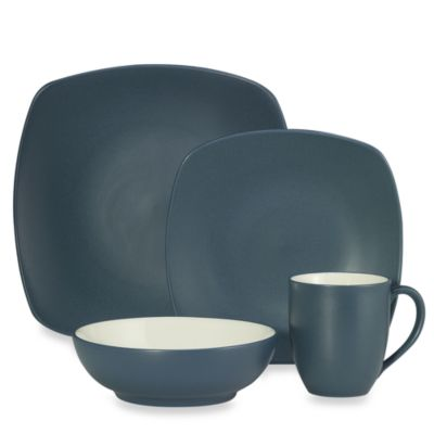 Noritake® Colorwave Quad 4-Piece Dinnerware Set in Blue