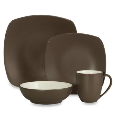 Noritake® Colorwave Quad 4-Piece Dinnerware Set in Chocolate