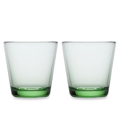 Green Lead Crystal Glasses