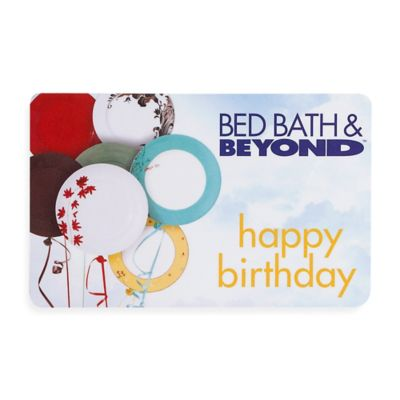 """happy birthday"" Balloons Gift Card $50"