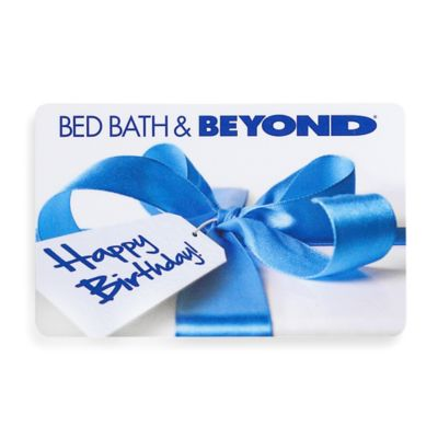 Happy Birthday Gift with Blue Bow Gift Card $50.00