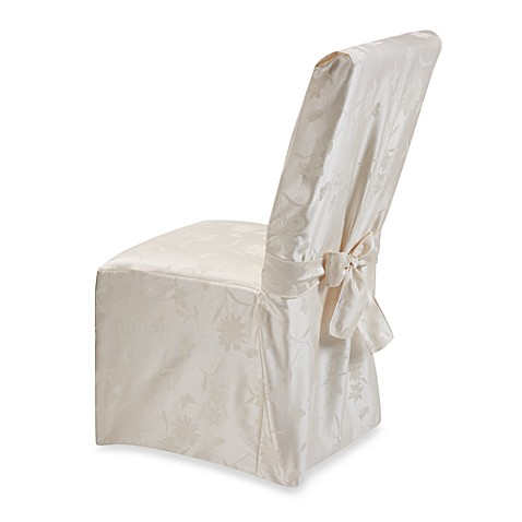 Spring Meadow Damask Dining Room Chair Cover - Champagne