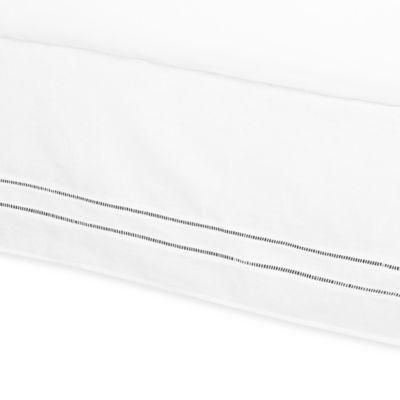 B. Smith Linen Hemstitch California King Bed Skirt in White