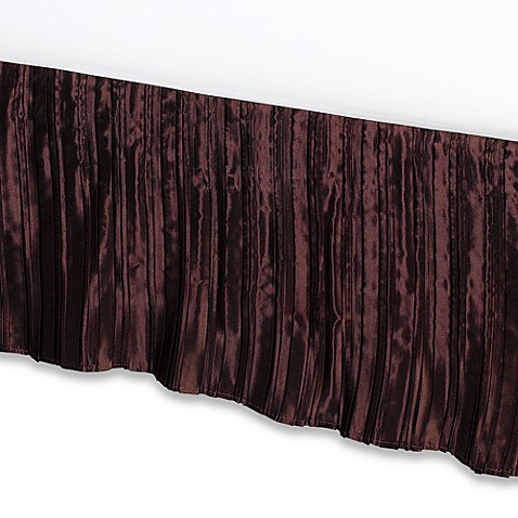 pleated satin king bed skirt bed bath beyond