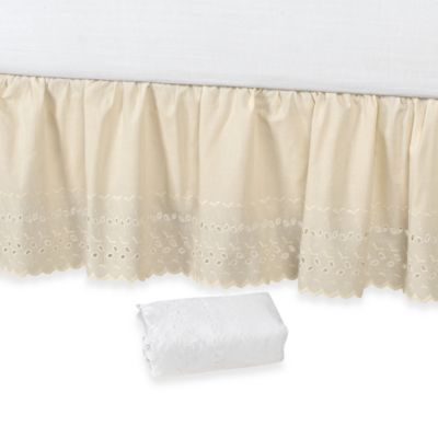 Queen White Solid Bed Ruffles