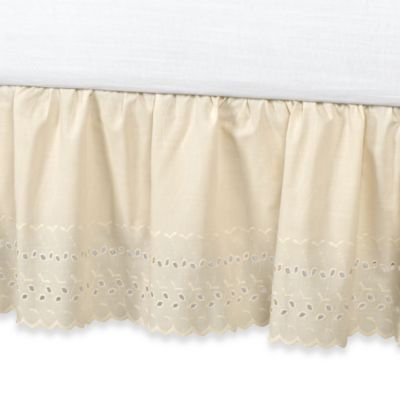 Vintage Chic™ Eyelet 18-Inch King Bed Skirt in Ivory