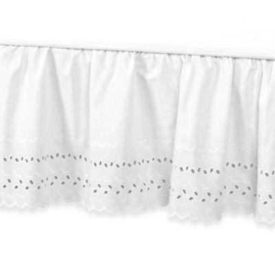 Vintage Chic™ Eyelet 14-Inch Bed Skirt - King - White