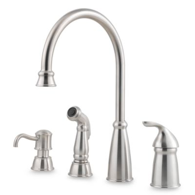 Price Pfister® Avalon Single Control Kitchen Faucet in Stainless Steel