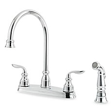 Price Pfister® Avalon Dual Control Kitchen Faucet in Polished Chrome