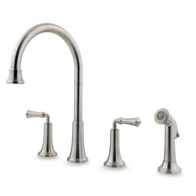 Price Pfister® Bellport Kitchen Faucet in Stainless Steel
