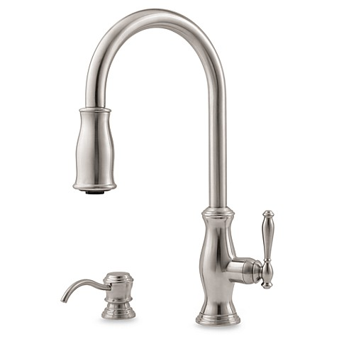 Price Pfister® Hanover Pull-Down Kitchen Faucet in Stainless Steel