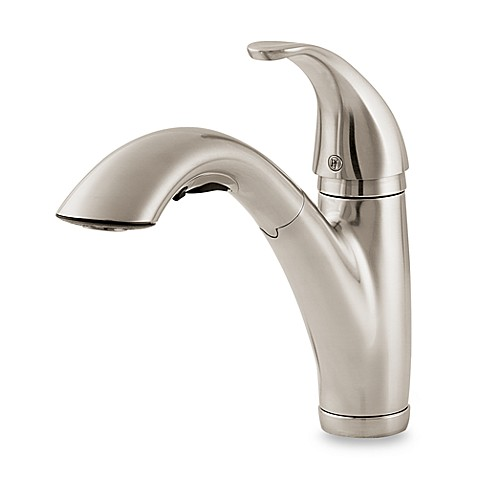price pfister parisa pull out kitchen faucet in stainless steel bed bath beyond