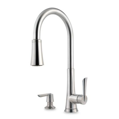 Price Pfister® Mystique Stainless Steel Pull Out Kitchen Faucet
