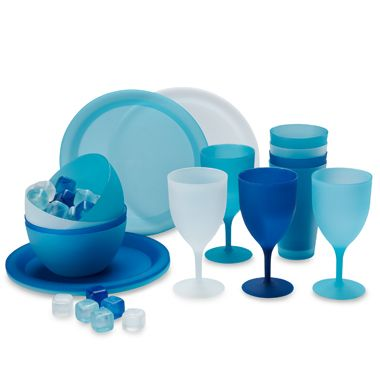Polypropylene Bowls in Blue (Set of 4)