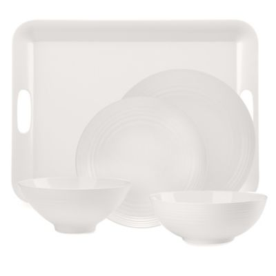 Solid White Melamine 10 1/2-Inch Dinner Plate