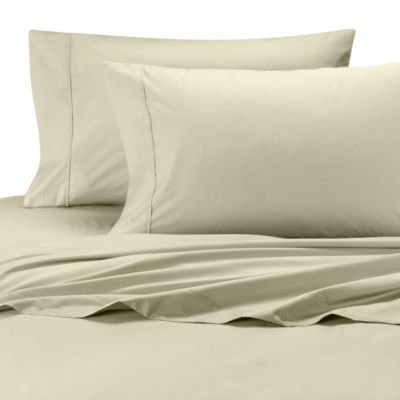 Perfect Percale Queen Sheet Set in Ivory