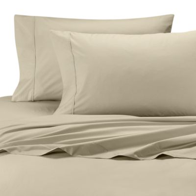 Perfect Percale Queen Sheet Set in Beige