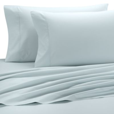 Perfect Percale Standard Pillowcase in Aqua (Set of 2)